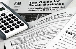 Business tax word cloud